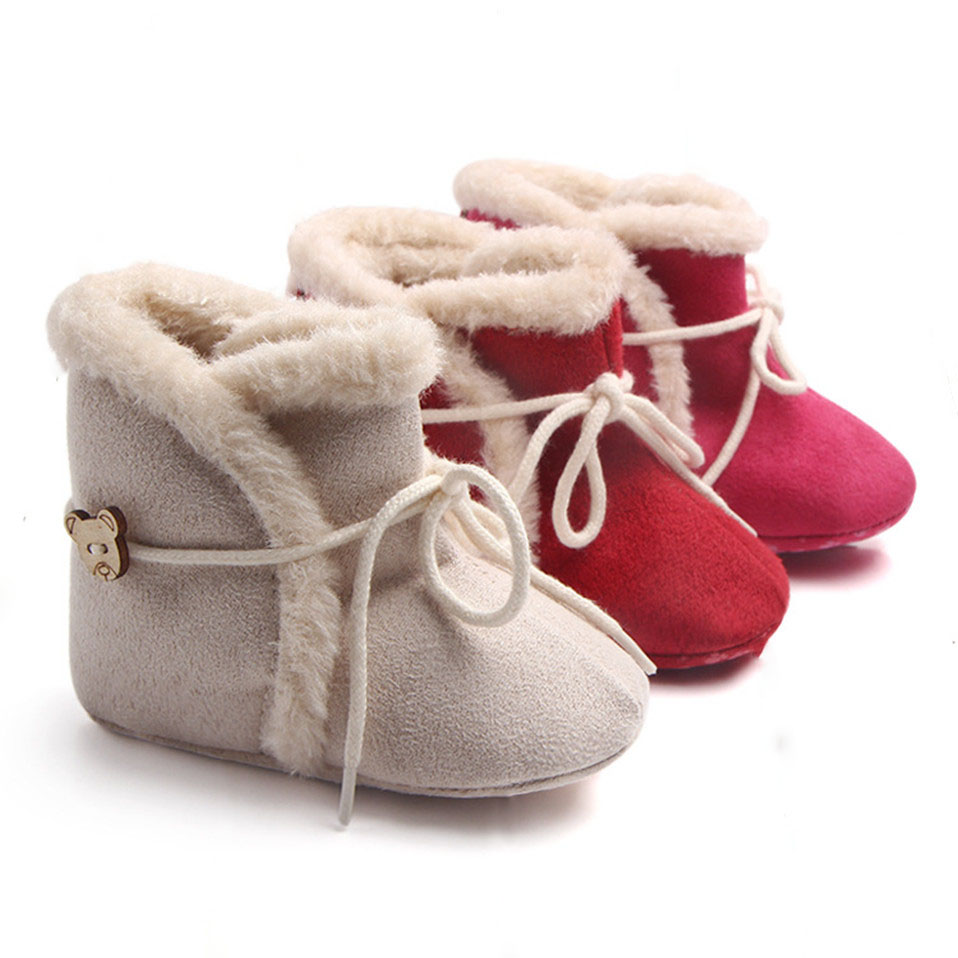 Snow Boots Shoes For Baby Girls Boys Keep Warm Boots Shoes Fashion Warm Plush Inside Baby Infant Boots Toddler Shoes