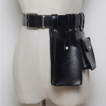 LANMREM 2020 Fashion Solid Color Women's New Imitation Leather Mobile Phone Belt Bag Female Messenger Chest Bag PC207 фото