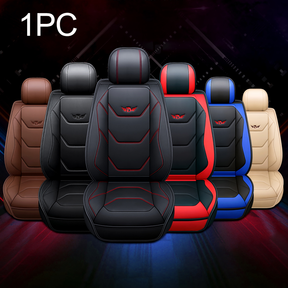 Universal PU Leather Full Car Seat Covers Mat Pad Breathable Cushion Pad Set Car Seat Covers Interior Accessories Fit Most Car