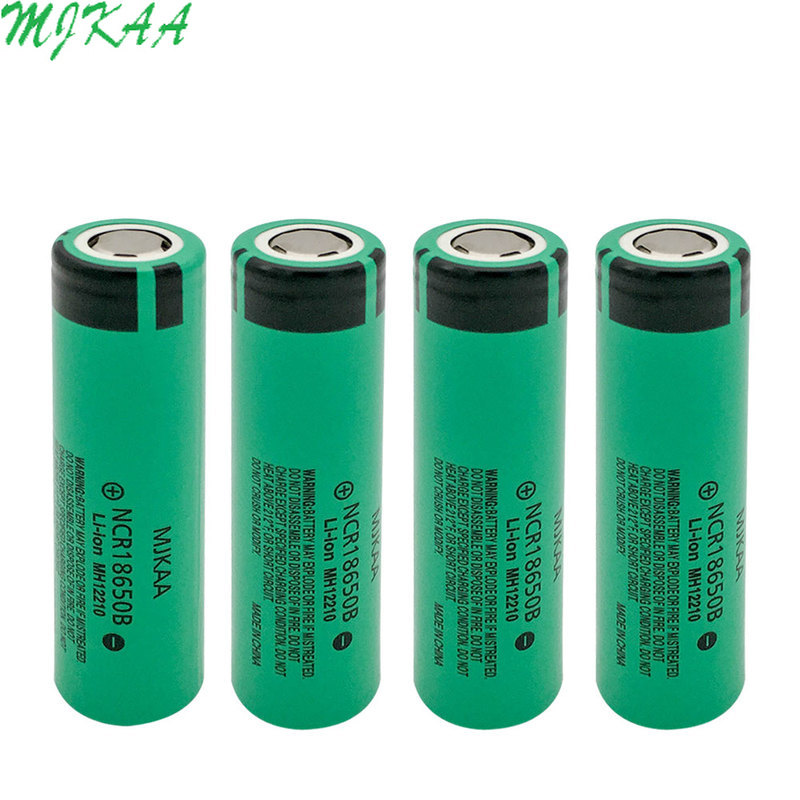 MJKAA <font><b>4</b></font>/6pcs NCR 18650B 3.7 v 3400 mah Lithium Rechargeable Battery For Flashlight batteries image