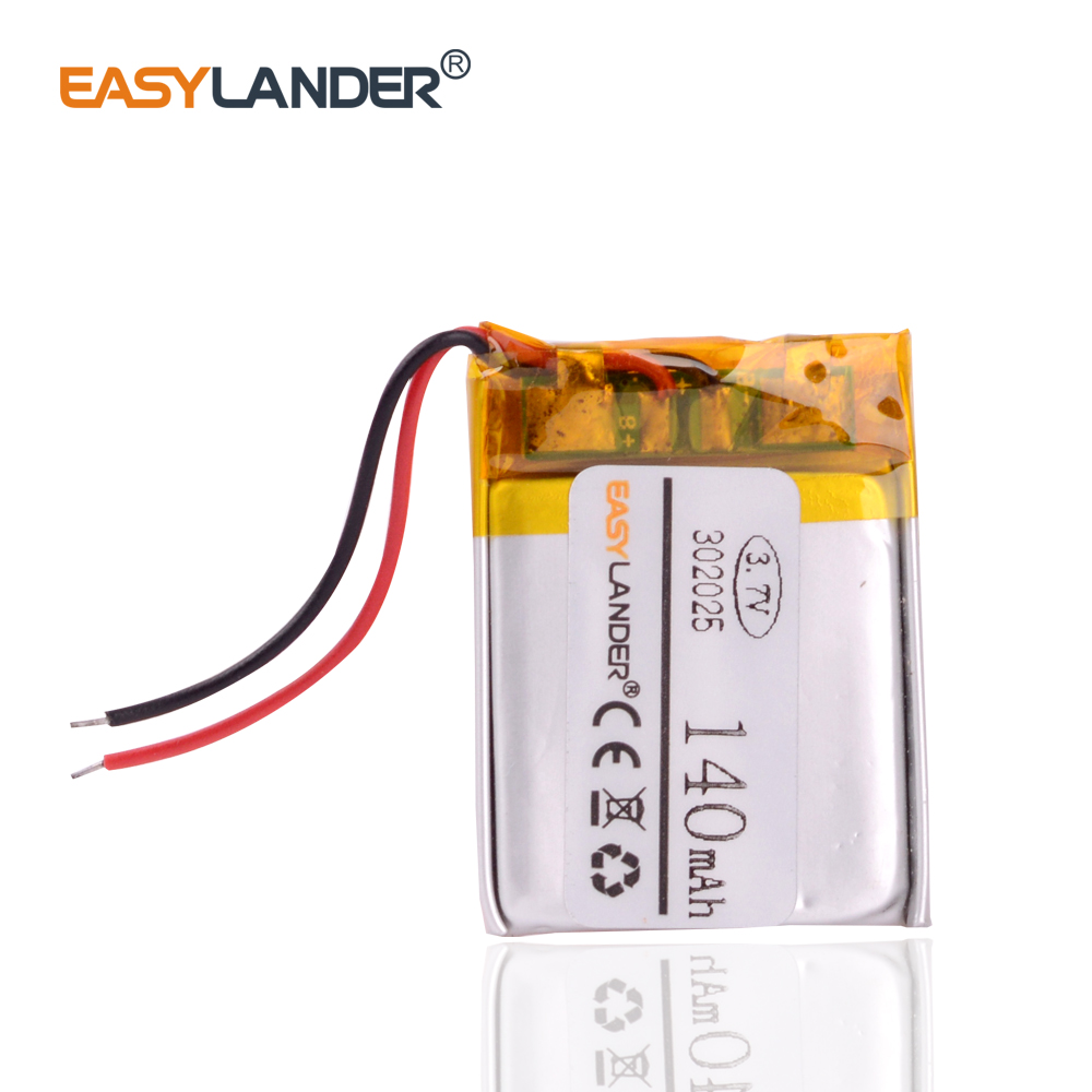 10pcs/Lot <font><b>302025</b></font> 3.7V 140mAh Rechargeable li Polymer Li-ion Battery For mp3 mp4 smart Watch DVR GPS PSP Sports bracelet 302126 image