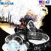 EZK20 دروبشيبينغ T6 R5 LED كشافات 4 وضع مقاوم للماء حر اليدين العلوي الشعلة مصباح يدوي لركوب الدراجات التخييم الصيد