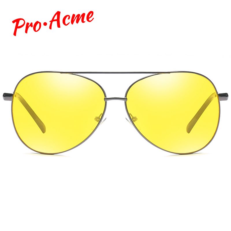 Pro Acme Classic Pilot Night Vision Glasses Driving Yellow Lens Vision Driver Glasses For Men CC0101 2