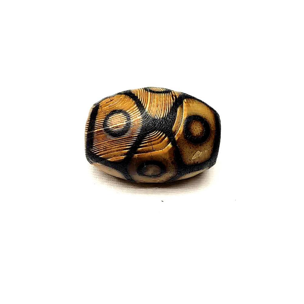 "10x30mm Black DZI beads Tibet Olivary Agate stone Oval DIY Loose Beads 15/"""