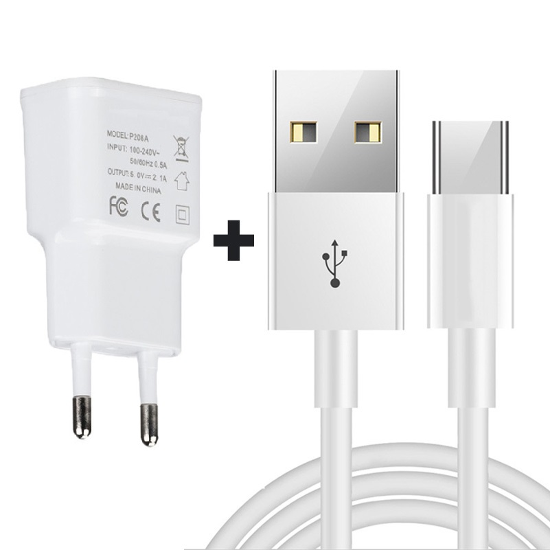 EU Travel Charger 1M Micro <font><b>USB</b></font> Cable For Alcatel 7/U3 2018/<font><b>5V</b></font>/1/3L/1C/1X3X/3/3V/Verso/3C/A3 Plus/U5 HD/U50/A7 XL image