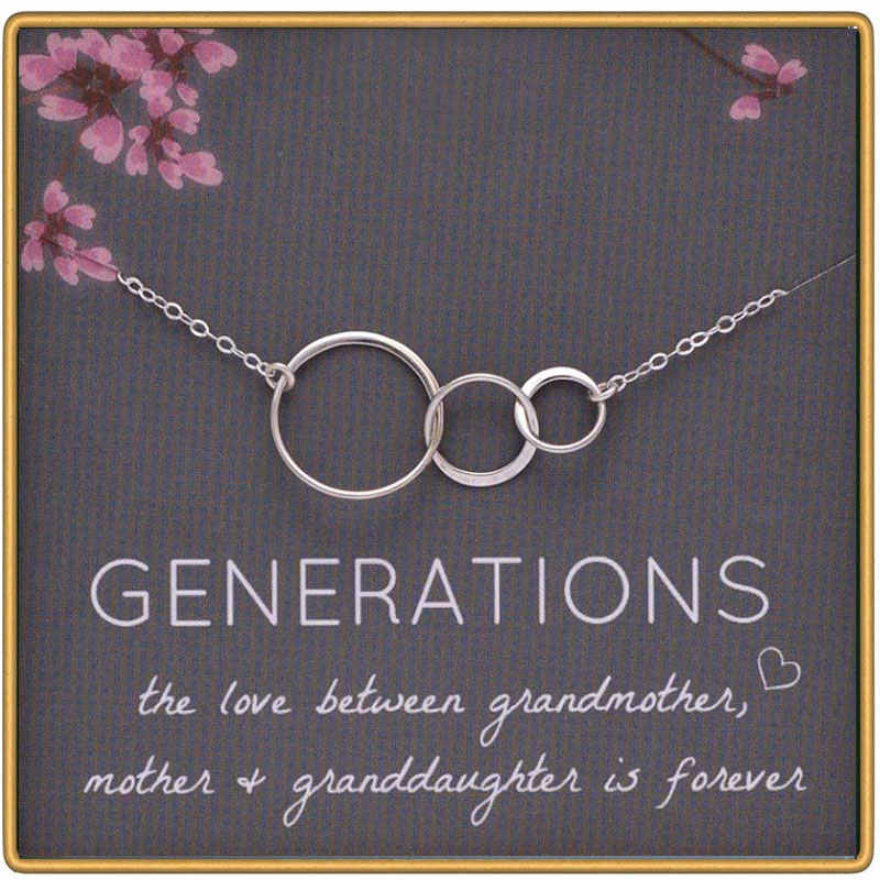 Mom and Son Best Friends Mother Daughter Infinity Necklace Sterling Silver Minimal Necklace Generations Jewelry Interlocking Circles