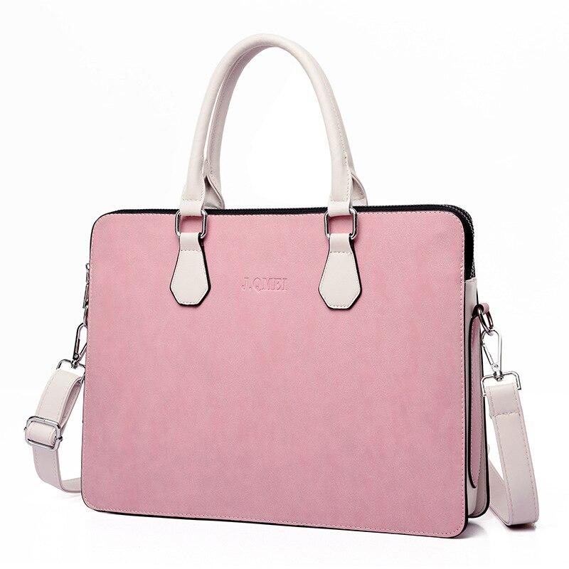 Business Leather Women's  Briefcase Laptop Handbag Woman Fashion Multifunction Large Capacity Office Shoulder Laptop Bags Women