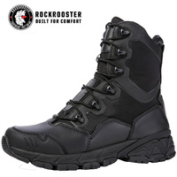 ROCKROOSTER High Tube Work Safety Shoes Lace Up Men's Military Boots Outdoor Climbing Hunting Shoes