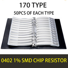 0402 1005 1% 0R OHM ~10M YAGEO SMD Resistor Sample Book Tolerance 170valuesx50pcs=8500pcs