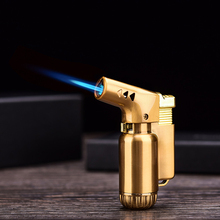 Metal Butane Gas Jet Lighter Turbo Torch Spray Gun Cigar Inflatable Fixed Fire Windproof Portable 1300 C Outdoor
