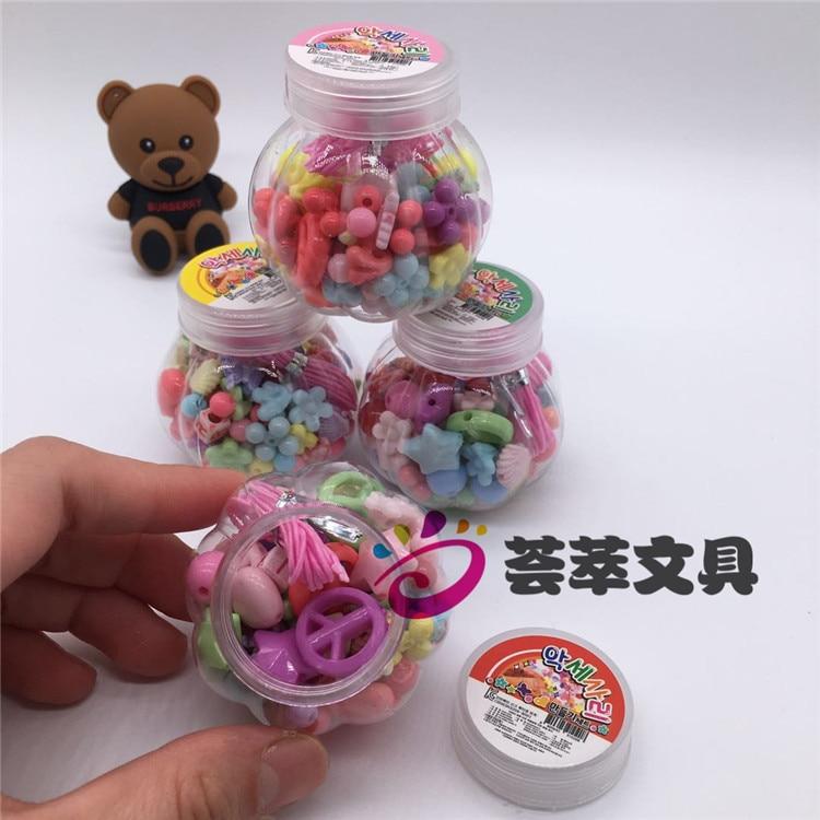 South Korea Creative Pumpkin Children'S Educational Bead Toy DIY Wear Beads GIRL'S Beading Bracelet Necklace