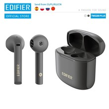Edifier tws200 plus tws fones de ouvido bluetooth v5.2 qualcomm aptx adaptável duplo microfone cancelamento de ruído sem fio fone de ouvido aac tipo-c