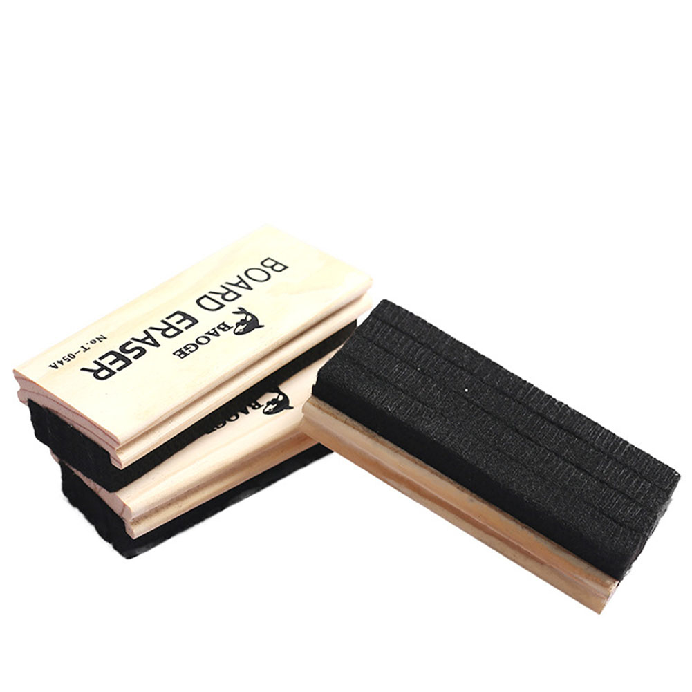 Teaching Classroom Wool Felt Easy Apply Chalkboard Duster Whiteboard Eraser School Supplies Without Trace Comfortable Grip
