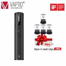 Original Vaptio Spin IT kit 15W Electronic Cigarette Vape Pen 650mAh built-in battery 1.8ml Atomizer kit LED Power Indicating hot envii fitt starter kit built in 650mah battery
