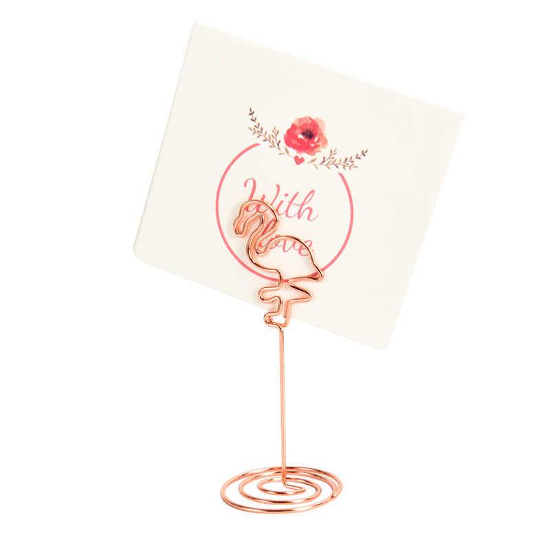 1 pc romântico coração anel forma metal photo clip mesa número suporte do cartão de lugar festa de casamento desktop decoração para casa