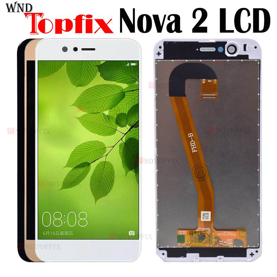 100% Tested For Huawei Nova 2 LCD Touch Screen Assembly Screen For Huawei Nova 2 Screen For Huawei Nova 2 Display Frame