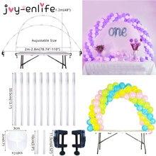 Festa de casamento balão arco kit mesa arco ballon suporte coluna decorações crianças chuveiro do bebê festa de aniversário balão acessórios