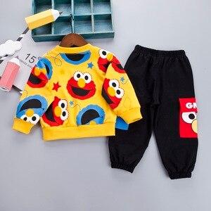 Image 3 - Desenhos animados da criança infantil bebê menino roupas definir camiseta + calças de algodão mangas compridas conjunto amarelo branco da criança meninos roupas