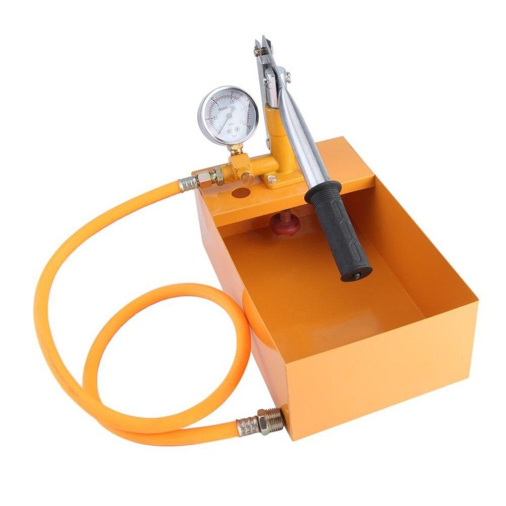 Испытательный насос для воды, вакуумный масляный насос высокого давления, ручное Испытание на утечку труб, прочный гидравлический насос, 25 ...
