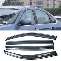 닛산 블루 버드 sylphy g11 almera 2005-2012 자동차 창 sun rain shade 바이저 쉴드 셸터 프로텍터 커버 프레임 스티커