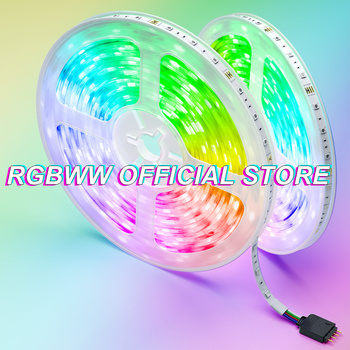 Tira de luces Led RGB 5050 + mando a distancia + adaptador, cinta luminosa Flexible de diodo, resistente al agua, Bluetooth 2835, DC12V, 5M/10M/15M