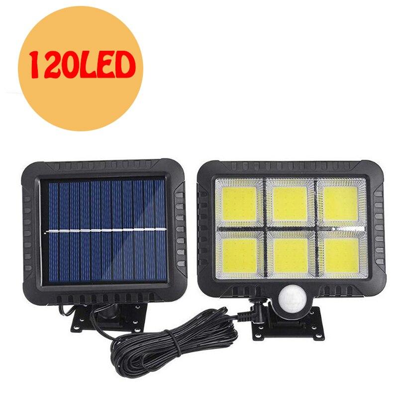120 LED Solar Light Outdoor Waterproof Solar Lamps PIR Motion Sensor Wall Lights Solar Powered Sunlight Spotlights Garden Decor