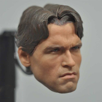 1/6 Scale T800 Terminator Yong Arnold Schwarzenegger Head Sculpt Model For 12 Male Body Figure