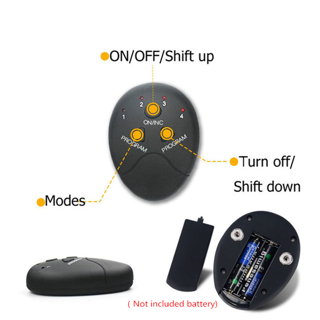Abdominal Muscle Stimulator Trainer Smart Wireless Abs Stimulator Fitness EMS Muscle Massager Electric Slimming Massage Machine 5