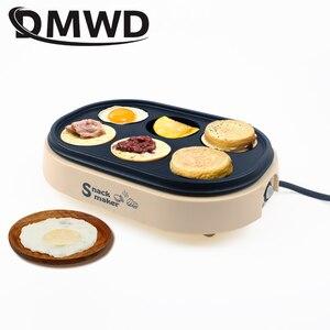 Image 1 - DMWD Điện Trứng Rang Hamburger Máy Đậu Đỏ Bánh Máy Làm Bánh Crepe MINI Bánh Pancake Nướng Chiên Trứng Trứng Tráng Chảo Chiên EU