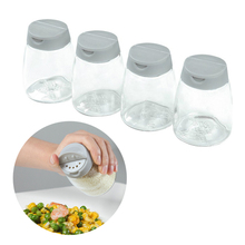 4 Pcs Barbecue Jar Condiment Pepper Glass Bottles Outdoor Plastic Cruet Kitchen Storage Bottle Double Lid Seasoning Box