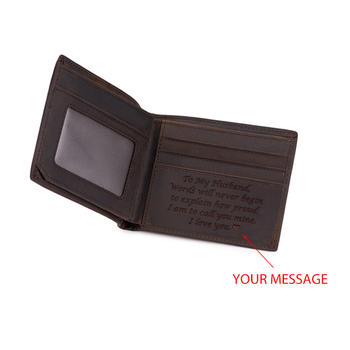 Personalized wallet Men Men Leather Short Slim Male Purses Money Clip Credit Card Bag Engraved Customize for Son groomsman gift