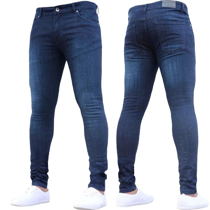 Men Autumn Winter Fashion Casual Stretch Skinny Jeans Slim Denim Pencil Pants Leggings Trousers Plus Size