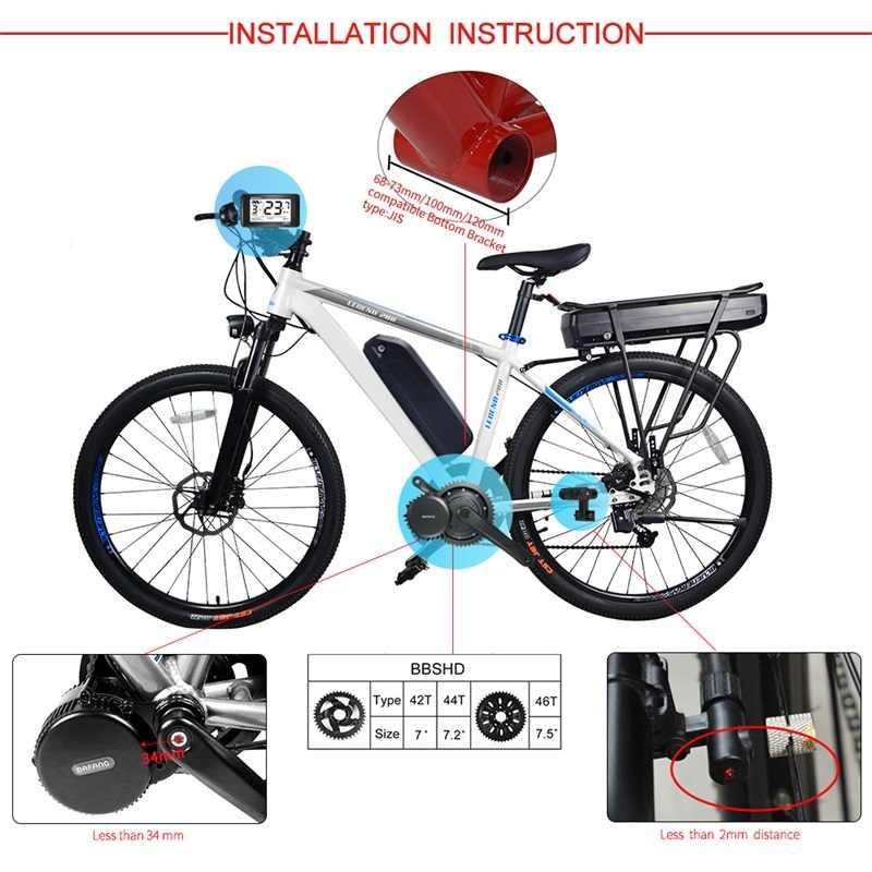 قفل البطارية 17.5Ah بافانغ BBSHD 48V 1000W منتصف عدد المحرك E-الدراجة سامسونج الخليوي عدد المحرك عرض DIY الكهربائية دراجة أجزاء