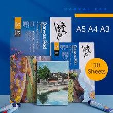 Toile de peinture à l'huile pour débutants, 280g/m2, A5, A4, A3, pratique, acrylique, dessin, livre d'art, fournitures de peinture, CAXX0024