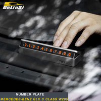 Gelinsi for Mercedes Benz A B C E S Class GLA CLA G500 GLE GLC ML GLK G Car Parking Card Telephone Phone Number Card Plate