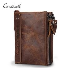 CONTACT'S Распродажа Высококачественный брендовый кошелек из натуральной кожи в винтажном стиле с отделением для денег