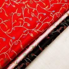 Vintage satin fabric brocade jacquard fabrics for sewing kimono cheongsam and bags stitching clothing material