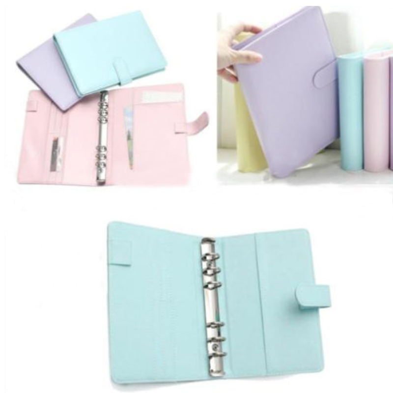 Ring Binder Cover Notepad Cover Loose Leaf Cover Leather A5 Notebook Stationery Traveler Partical Office Accessories