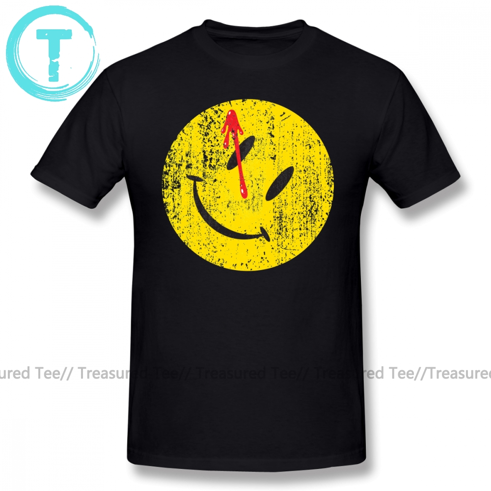 Watchmen T Shirt Watchmen Smiley T-Shirt Oversized 100 Cotton Tee Shirt Graphic Short Sleeve Man Funny Streetwear Tshirt