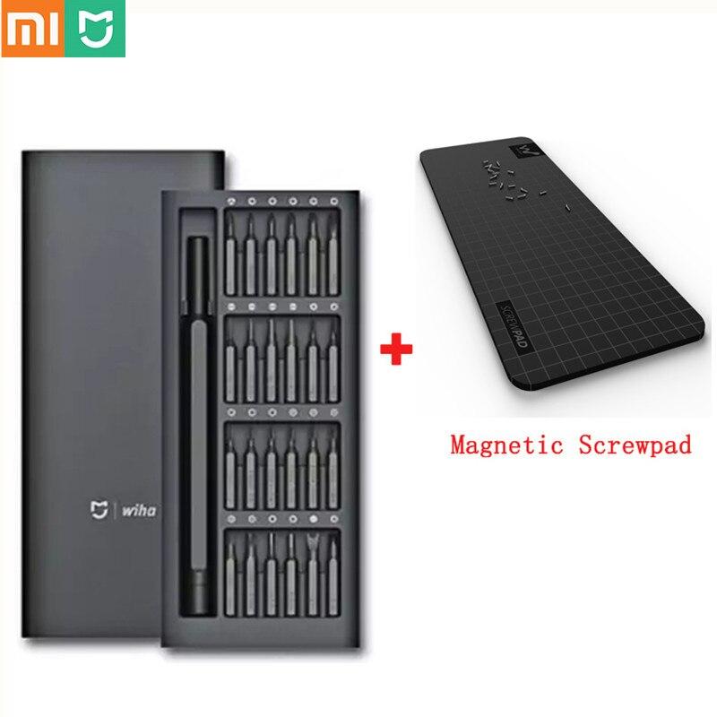 Xiaomi mijia wiha uso diário chave de fenda kit 24 em 1 precisão bits magnéticos caixa diy parafuso driver conjunto para casa inteligente