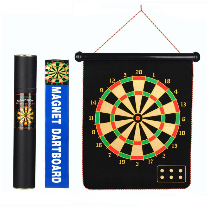 12/15/17 Inch Target Dart Flocking Dartboard Board Magnetic Darts Set Indoor Shooting Sports Game Double Sided Magnet Target #ND