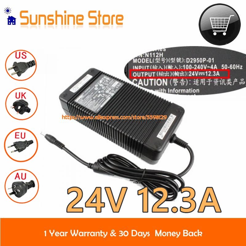 Натуральная Для Dell DA295PSO-01 адаптер переменного тока D2950P-01 DA295PSO-01 N112H 24V 12.3A Питание 300W