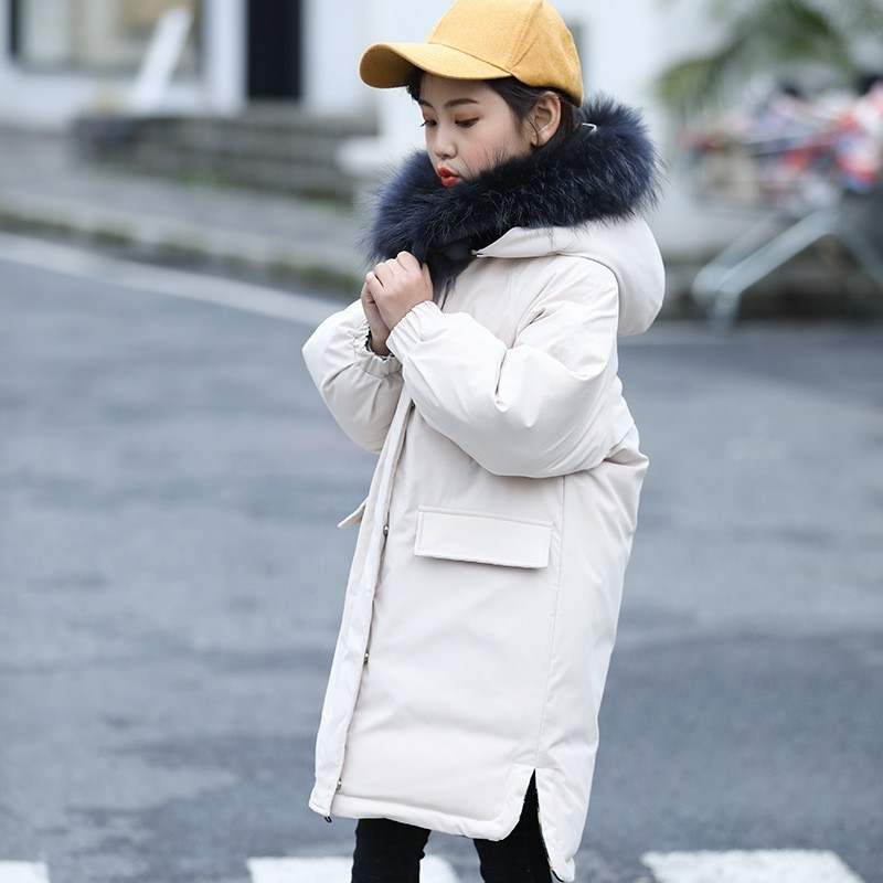 2019 enfants doudoune garçons hiver épais chaud Long parka à capuche vêtements d'extérieur pour enfant manteau vêtements filles vêtements deux côtés peuvent porter
