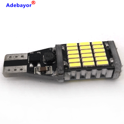 50PCS T15 921 W16W 45 SMD 4014 Canbus T10 LED Auto Additional Brake Lamp Backup Reverse Lights Car Daytime Running Light White