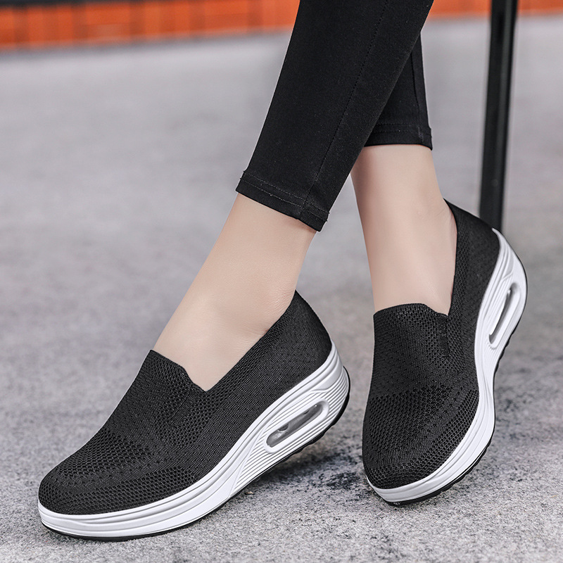 2020 Women Toning Shoes Weaving Breathable Platform Swing Snekers  New Spring Hollow Ultra-light Female Lazy Slimming Shoes