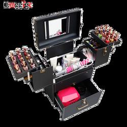 Make-up artist Cosmetische Zakken met Wiel, Nagels Make Toolbox, rolley Case met Rollen, beauty Doos Reisbagage Koffer tas