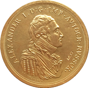 24 k gold plated Russian coins 1 ruble 1804 41mm copy(China)