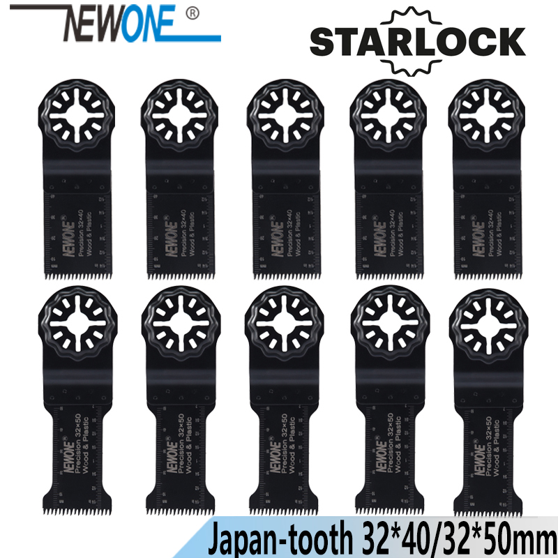 NEWONE Starlock 32*40/50mm HCS Lengthen Precision Japan Teeth Oscillating Tools Saw Blades Power Multi Tools Renovator Saw Blade