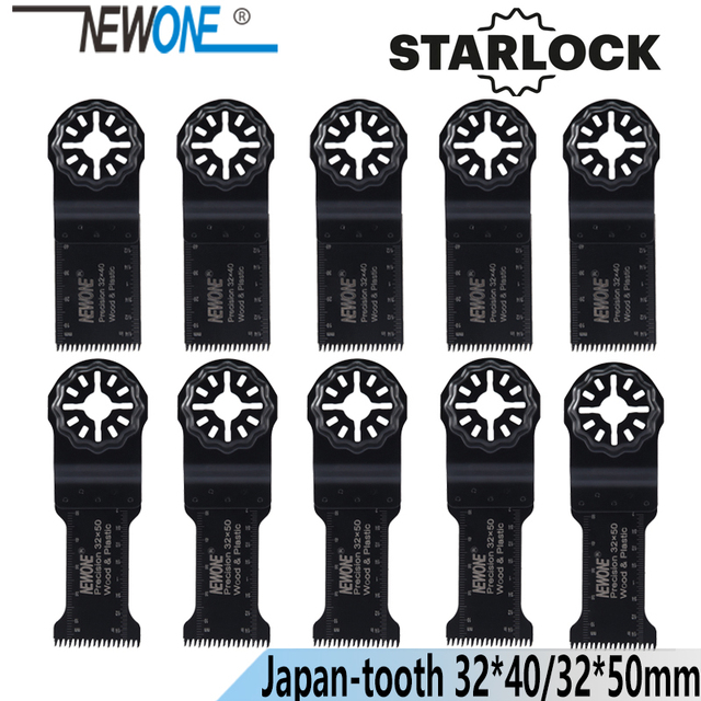 NEWONE Starlock 32*40/50mm HCS 길게 정밀 일본 치아 진동 도구 톱 블레이드 전원 멀티 도구 Renovator 톱 블레이드