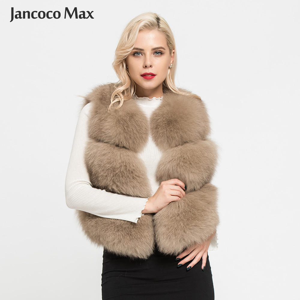 New Arrivals Women's Real Fox Fur Vest Fashion Lady Natural Fur Waistcoat Luxury Gilets S1673